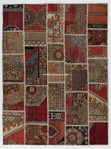One of a Kind PATCHWORK RUG Handmade from Vintage Turkish Carpets