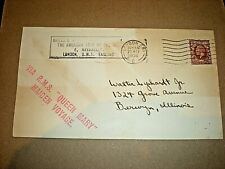 More details for r.m.s. queen mary maiden voyage 1936. posted envelope. stamped via queen mary