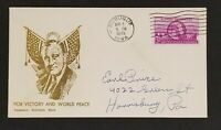 1945 Dubuque IA To Harrisburg PA Roosevelt Victory Peace Color Patriotic Cover