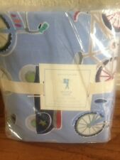 New Pottery Barn Kids Bicycle Full/Queen Duvet Cover W/2 Standard Shams Bike