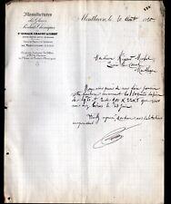 """MONTLUCON (03) USINE de PRODUITS CHIMIQUE """"SAINT-GOBAIN"""" en 1910"""