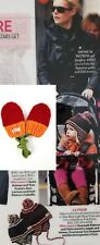 LA FOLIE NWOT Celebrity Fan Designer Hand Knit Red / Orange Mittens 0-6M
