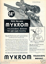 1949 Print Ad of Mykrom Rifle Telescope Scope Mount