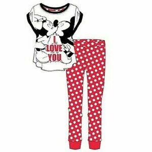 Disney Mickey and Minnie I WILL LOVE ALL OF YOU Women's Girl's Pyjamas set