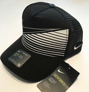 Black and White Nike Hat - New Mesh Nike  Snapback Cap