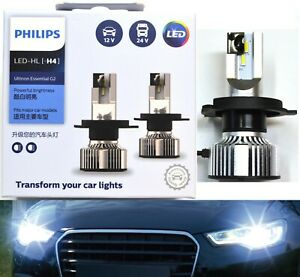 Philips Ultinon LED G2 6500K White H4 Two Bulbs Head Light High Low Beam Lamp