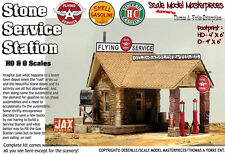 STONE SERVICE STATION (Flying A) KIT Scale Model Masterpieces/YORKE 1:48/O/On30
