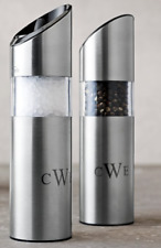 TRUDEAU Graviti Battery Operated Salt & Pepper Mill SET / STAINLESS STEEL $89.95
