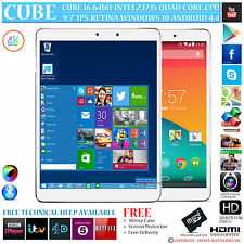 Cubo I6 AIR Intel 1,83 GHZ QUAD CORE DUAL OS Windows 10 Android 4.4 Tablet PC