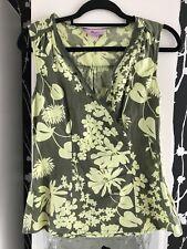 Monsoon Ladies Womens Linen Summer Blouse Top Wrap Style Size 10