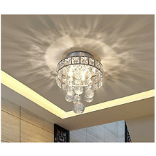 Flush Mount Crystal Chandelier Pendant Ceiling Lights Fixture Lamp Living Room
