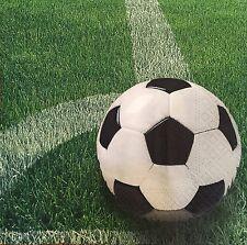 20 paper napkin decoupage collection Serviette Football Soccer Ball