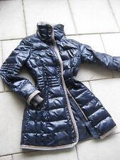 SIR OLIVER Outdoor Daunenmantel Jacke Gr. 36 S M blau mit gold glänzend Top