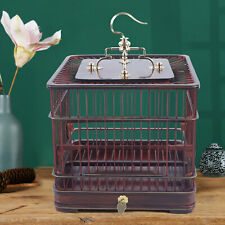Asian Bamboo Bird Cage Parakeet Finch Budgie Conure Cage Play House W/Drawer New