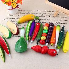 1Pc 3D New Vegetable Fruit Ball Point Ballpoint Pen Office School Accessories