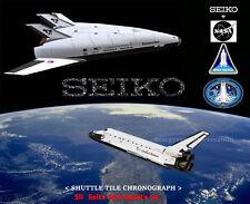 SEIKO VINTAGE NON DIGITAL WATCH NOS NASA SPACE SHUTTLE  200M  Apollo 11 12  Sii