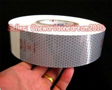 "NEW Reflective Conspicuity Tape Silver White 7.5m = 25' CCC=DOT-C2 25pcs 2"" Wide"