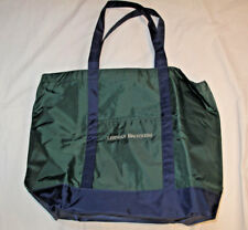 NEW LEHMAN BROTHERS Large Green & Blue Nylon Tote Bag- Beach! Shopping! Weekend!