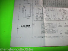 CABANA By UNITED 1953 ORIGINAL BINGO PINBALL MACHINE WIRING DIAGRAM SCHEMATICS