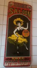 Vintage Paradise Saloon 5cent Free Entertainement bar sign by George Nathan #226