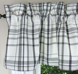 """Crawford 72"""" x 14"""" Unlined Cotton Window Valance by Primitive Home Decors"""