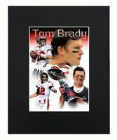 Tom Brady Tampa Bay Buccaneers super bowl champions NFL Football Print Matted