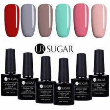 6 Bottles UV Gel Nail Polish Set 7.5ML Soak Off Gel Nails Varnish Kit UR Sugar