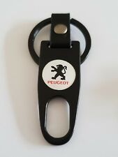 PEUGEOT WHITE AND BLACK Keyring Keychain Spanner Chrome 4 colours Ideal Extra