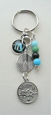 Virgo The Maiden Star Sign Zodiac Glass Cabochon Keyring or Bag Charm  KCJ2603