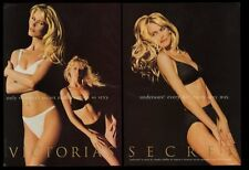 1996 Claudia Schiffer 3 photo Victoria's Secret lingerie panties bra print ad
