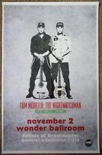 THE NIGHTWATCHMAN Tom Morello 2008 Gig POSTER Portland Oregon Concert