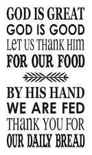 """Stencil *God is Great* 12""""x20"""" for Kitchen Dining Room Signs Craft Airbrush"""