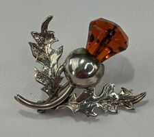 Vintage Sterling Silver 925 Scottish Celtic Thistle Brooch Pin Ward Brothers WBS