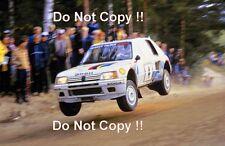 Ari Vatanen Peugeot 205 Turbo 16 Winner 1000 Lakes Rally 1984 Photograph 1