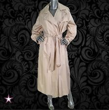 Vintage 80S CHRISTIAN DIOR belted Trench COAT Cream oversized L/XL 12