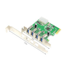 USB 3.0 PCI-E Card USB PCI Express HUB 4 Port Horizontal Connection