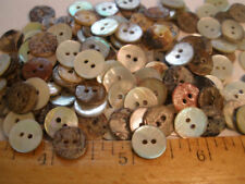 """72pc Real Shell Buttons Pearly White Mop agoya 7/16"""" mother of pearl 11Mm 18L 2H"""