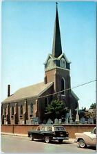LEWES, Delaware  DE   Old ST. PETER'S EPISCOPAL CHURCH  ca 1950s Cars Postcard