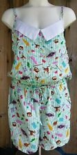 Harry Potter HONEYDUKES Candy Store HOGSMEADE Womens LARGE Romper NWT