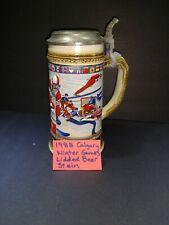 Anheuser Busch Budweiser 1988 Calgary Olympic Winter Games Lidded Beer Stein