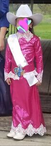Youth Western Bling Pink/White Rodeo Queen Dress