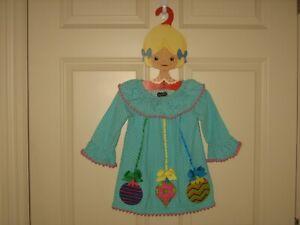 ~MUD PIE~Infant Girl's Polka Dot Holiday Corduroy Dress ~ SZ 12-18 Month~