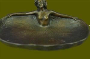 """Soaking"" by Rubin Dish CTray Nude Female Bronze Statue Sculpture Figurine Decor"