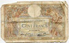 BILLET FRANCE  100  FRANCS   MERSON  10 / 2 / 1938