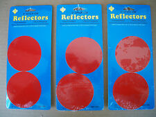 Red 3 Inch Stick On Reflectors 3 Packages