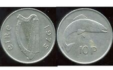 IRLANDE 10 pence 1975
