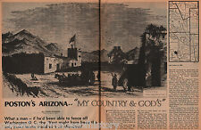 Charles Debrile Poston Arizony-My Country & God's+Bascome,Cochise,Gasden,Guara,
