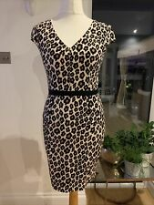 Oasis Leopard Pencil Print Dress Size 12 New With Tags £60