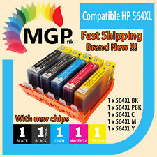 5 New Ink Cartridges for HP 564XL Photosmart 7510 7520 C5324 C5370 C5373 printer