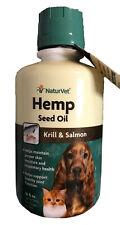 NaturVet Hemp Seed Oil Plus Krill&Salmon Joint Health Dogs Cats 16oz